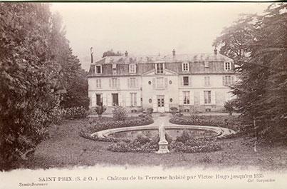 Saint-Prix en cartes postales - Le château de la terrasse où vécut Victor Hugo
