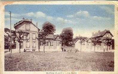 Saint-Prix en cartes postales - Les écoles Jules Ferry