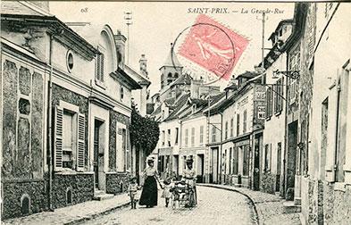 Saint-Prix en cartes postales - La grande rue