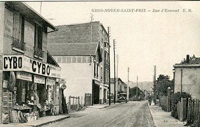 Saint-Prix en cartes postales - La rue d'Ermont