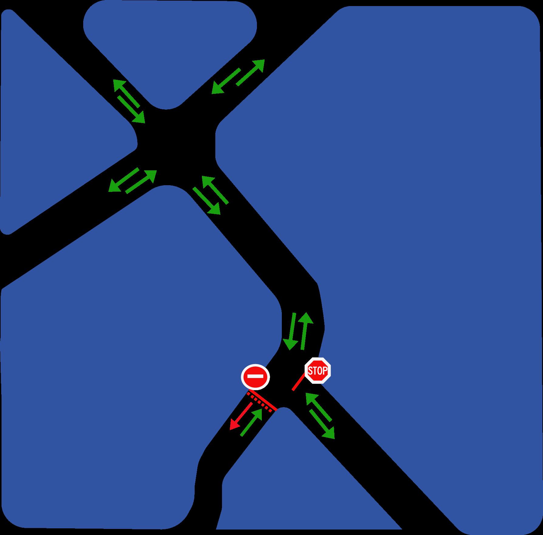 Plan sens unique rue Liberté