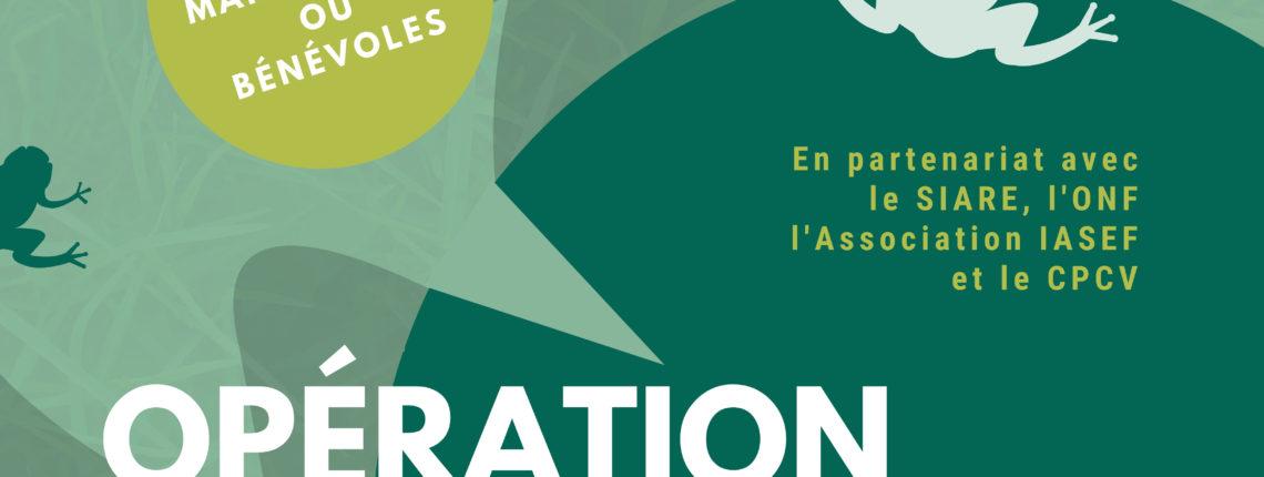 Affiche Bénévoles Opération Crapaudrome 2021
