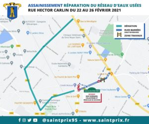 Info Travaux rue Hector Carlin - Déviation